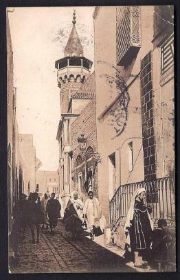 770-cpa-ancienne-sepia-tunisie-tunis-rue-sidi-ben